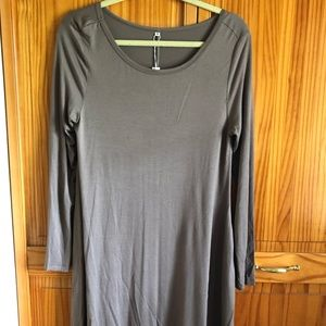 Taupe light weight HiMone dress.